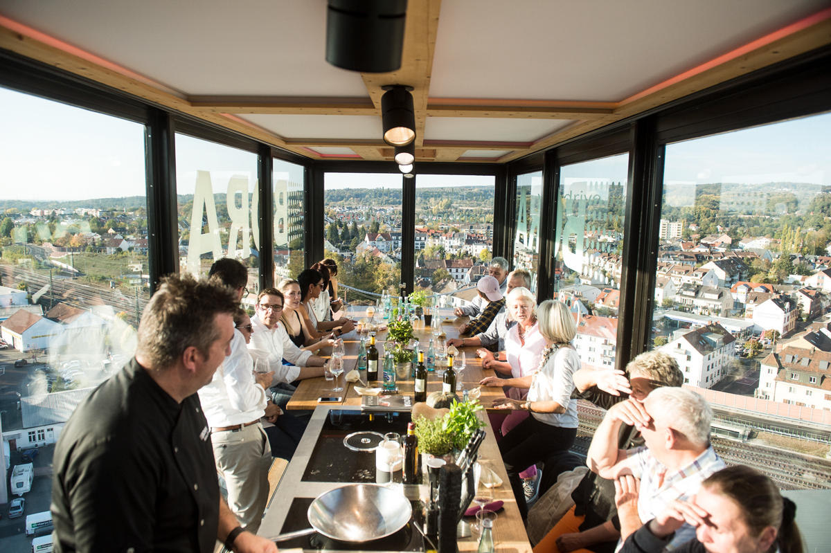 Dinner in the Sky mit Bora